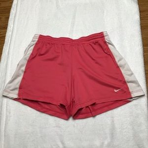 Nike Pink & White Work Out Shorts Size L
